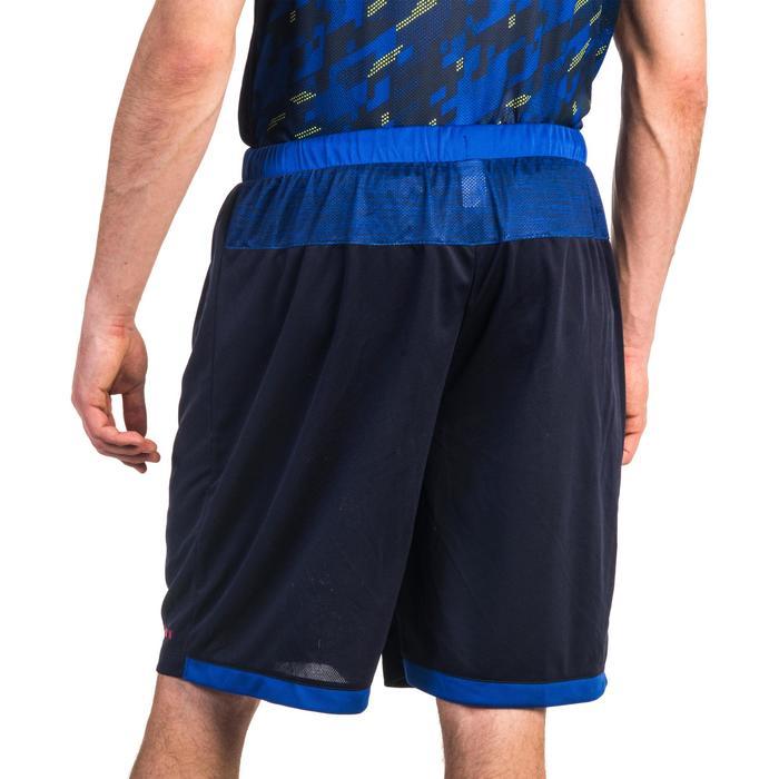 Basketballshorts SH500 Herren Fortgeschrittene blau meliert