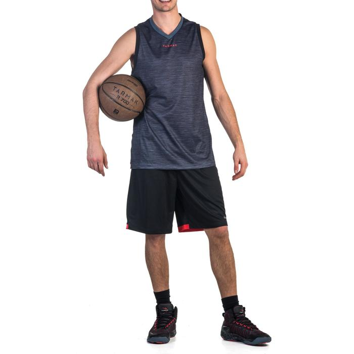 Basketballshorts SH500 Herren Fortgeschrittene schwarz/rot