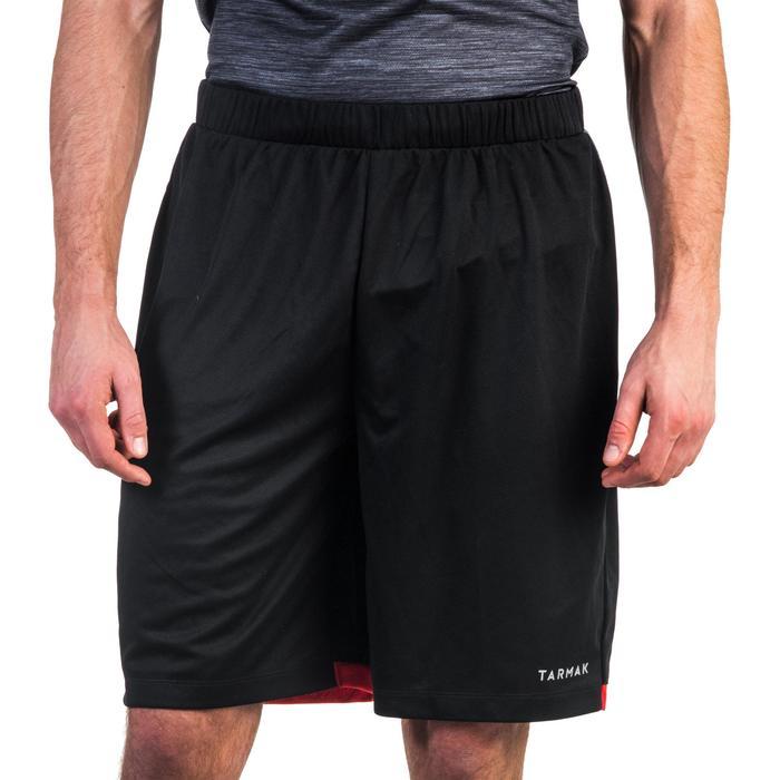 SHORT SH500 DE BASKETBALL POUR HOMME CONFIRME NOIR/ROUGE