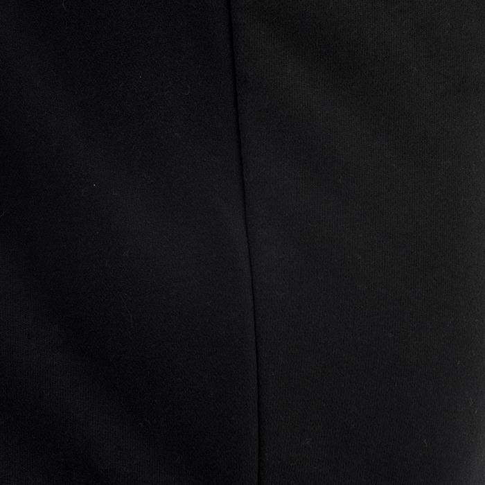 Pantalon 500 regular zip Gym Stretching noir homme - 1338770