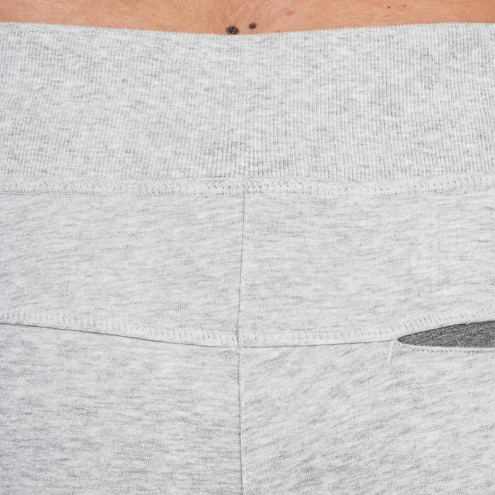 Pantalon 920 Gym & Pilates femme bas zippé gris chiné moyen - 1338771