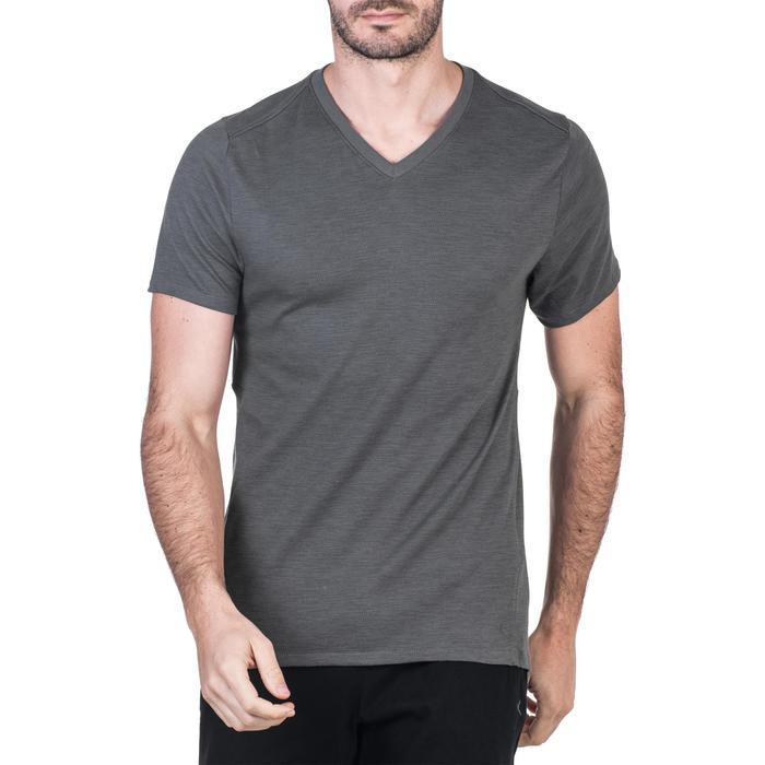 T-Shirt 520 slim col V Gym & Pilates homme printé - 1338786
