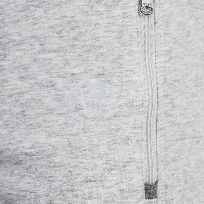 Pantalon 920 Gym & Pilates femme bas zippé gris chiné moyen - 1338788