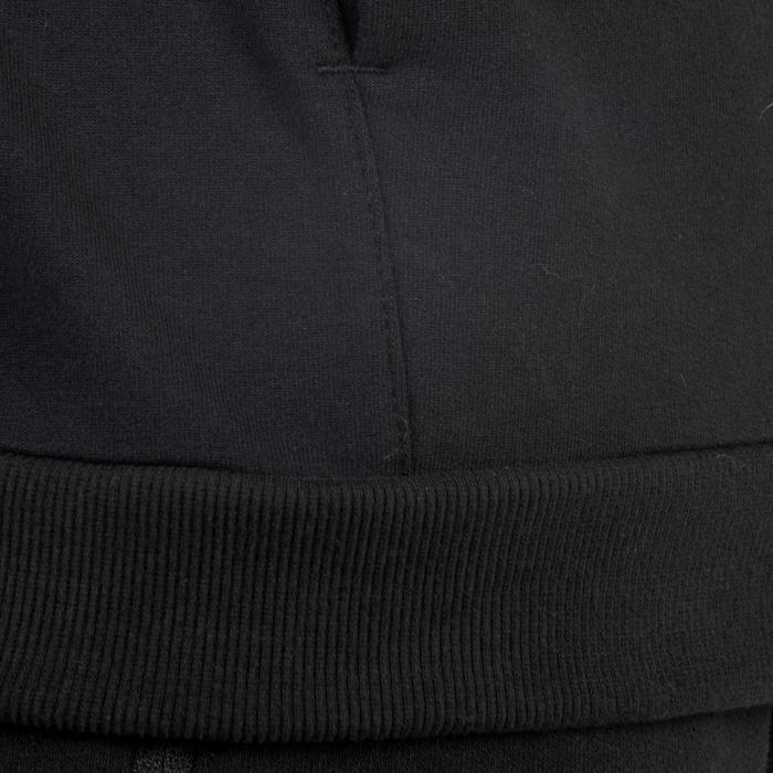 Veste 500 capuche Gym Stretching noir homme - 1338807
