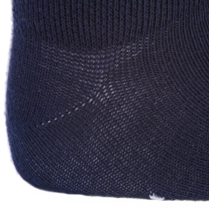 Turnsocken 100 Mid Baby 2-er-Pack weiß/marineblau