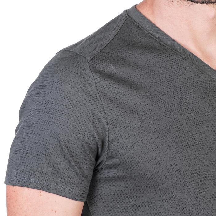 T-Shirt 520 slim col V Gym & Pilates homme printé - 1338836