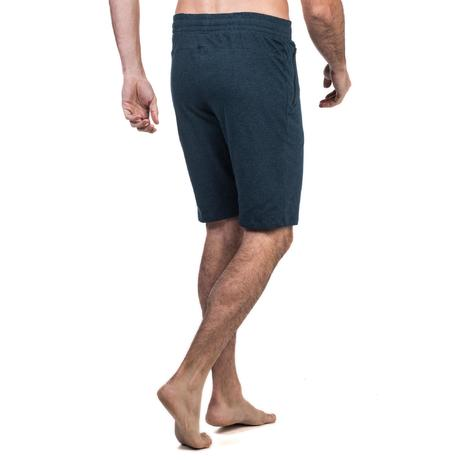 520 knee length slim fit gym pilates shorts navy blue for Gimnasio cardio pilates