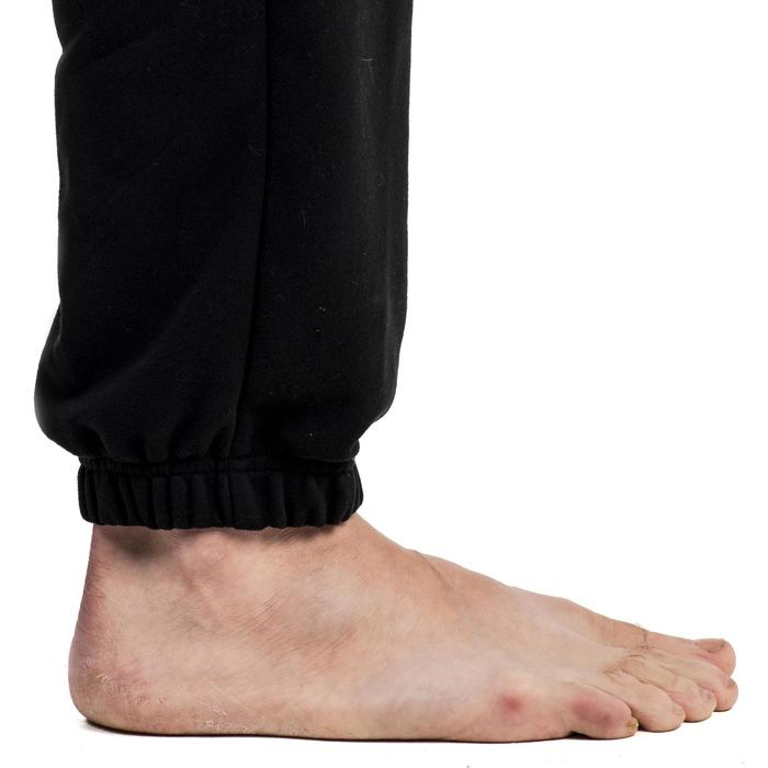 Pantalon 500 regular zip Gym Stretching noir homme - 1338846