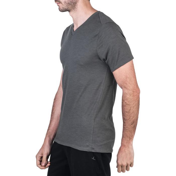 T-Shirt 520 slim col V Gym & Pilates homme printé - 1338855