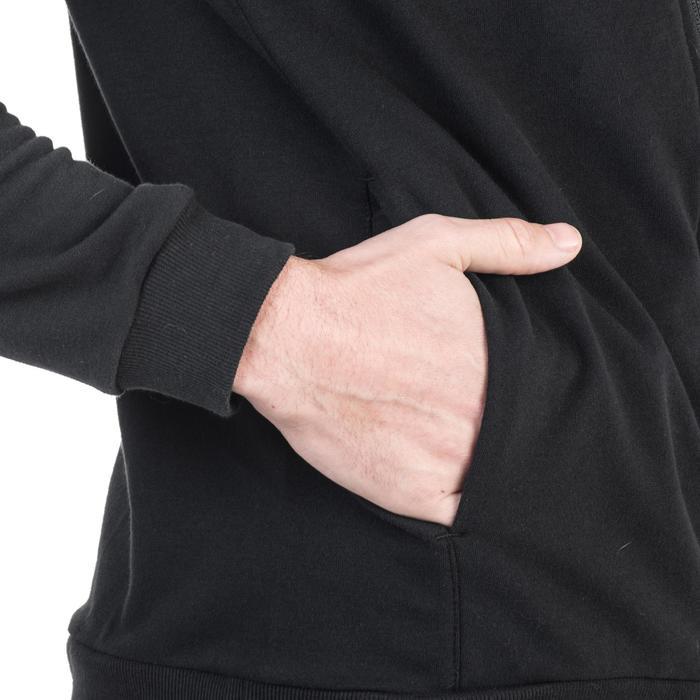 Veste 500 capuche Gym Stretching noir homme - 1338920