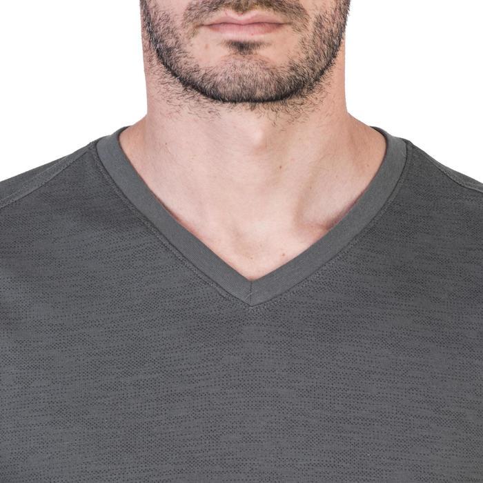 T-Shirt 520 slim col V Gym & Pilates homme printé - 1338967