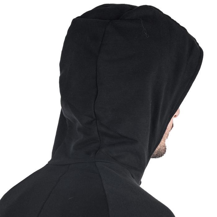 Veste 500 capuche Gym Stretching noir homme - 1338969