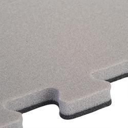 Zachte vloertegel voor peuter- en kleutergym 500 lichtgrijs