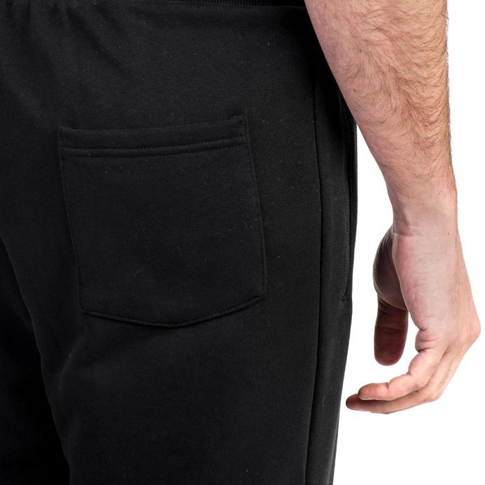Pantalon 500 regular zip Gym Stretching noir homme - 1338984