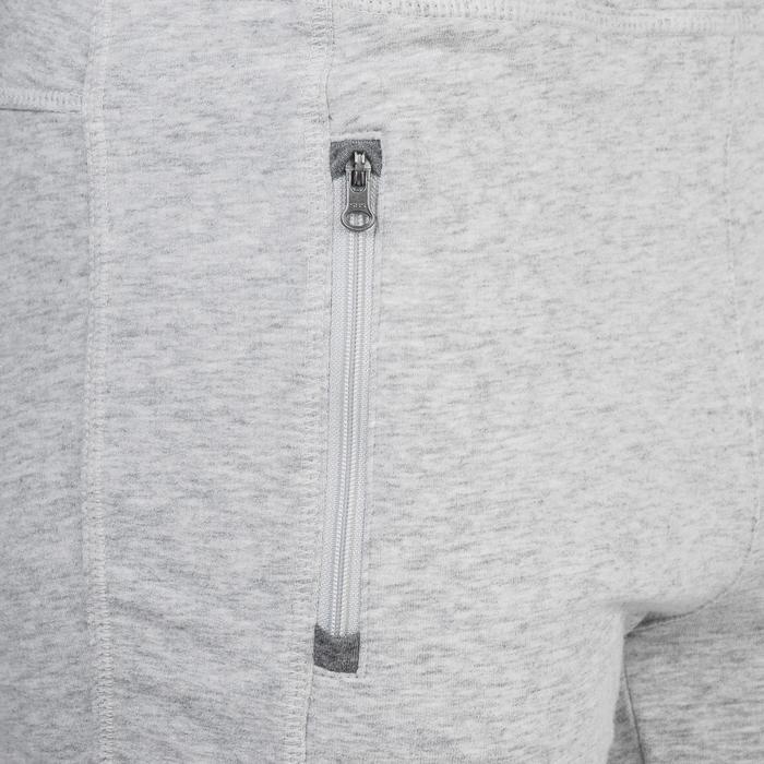 Pantalon 920 Gym & Pilates femme bas zippé gris chiné moyen - 1338988