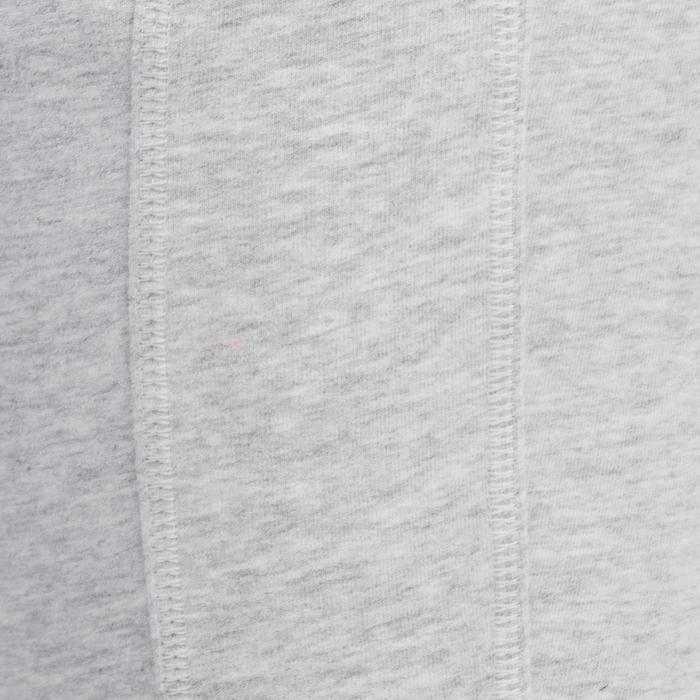 Pantalon 920 Gym & Pilates femme bas zippé gris chiné moyen - 1338992