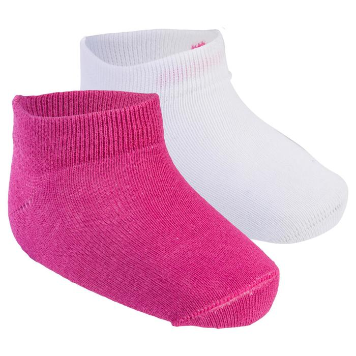 Calcetines 100 LOW LOTE 2 GIMNASIA blanco/rosa