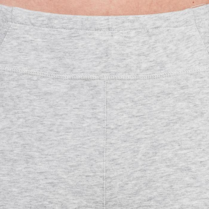 Pantalon 920 Gym & Pilates femme bas zippé gris chiné moyen - 1339001