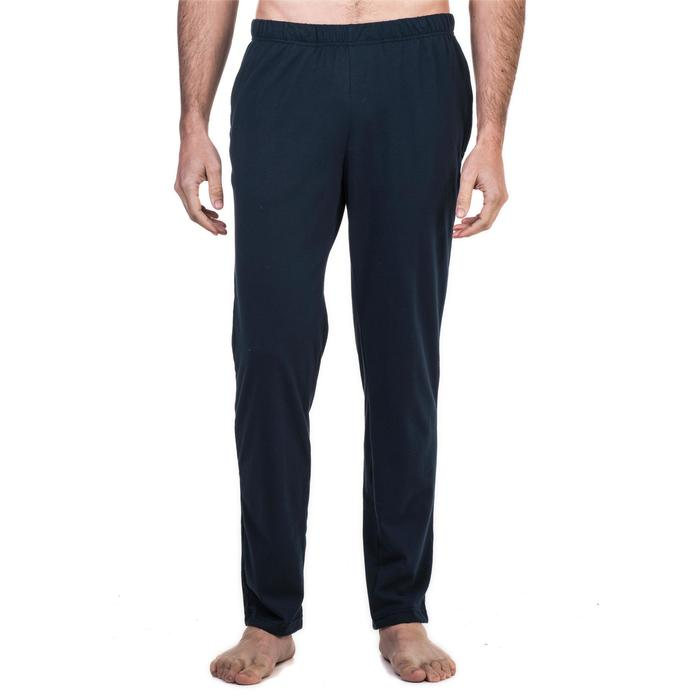 Pantalon 100 regular Gym Stretching homme bleu marine