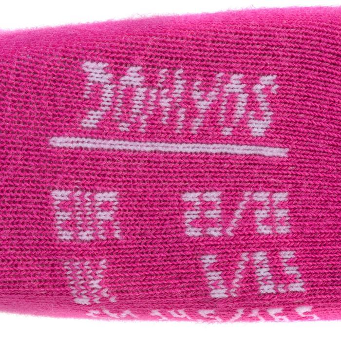 Turnsocken 100 Mid Baby 2-er-Pack weiß/rosa
