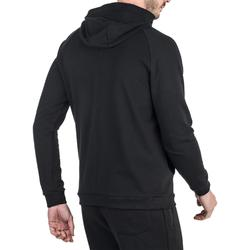 500 Gym Stretching Hooded Jacket - Black