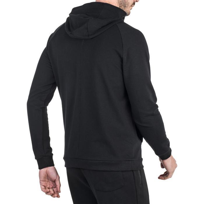 Veste 500 capuche Gym Stretching noir homme - 1339024