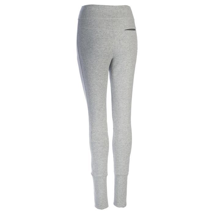 Pantalon 920 Gym & Pilates femme bas zippé gris chiné moyen - 1339033