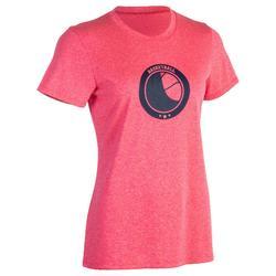 Fast 女性籃球T恤 - 初學者/進階者 - 粉紅 球