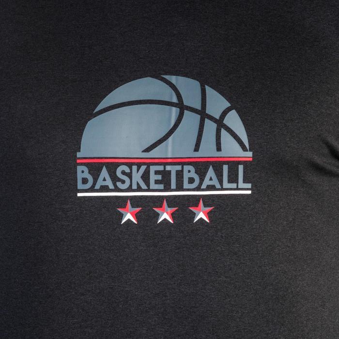 TEE-SHIRT BASKETBALL FAST AVEC MANCHON INTEGRE POUR HOMME EXPERT LOGO 1/2 BALLON - 1339072