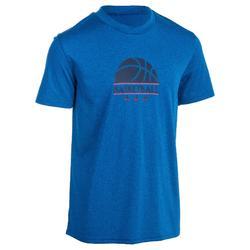 Fast Kids' Intermediate Basketball T-Shirt - Blue/Half-Ball