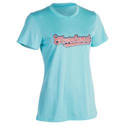 Fast 女子籃球T恤 - 初級/高級 - 克利夫蘭綠松石