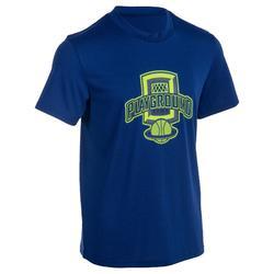 T-shirt fast basketbal jongens/meisjes beginners/gevorderde blauw Playground