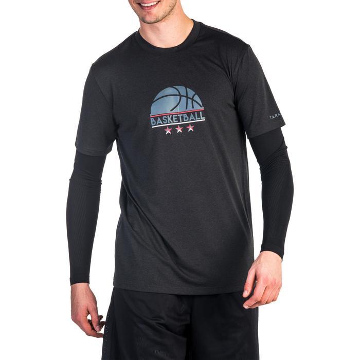 TEE-SHIRT BASKETBALL FAST AVEC MANCHON INTEGRE POUR HOMME EXPERT LOGO 1/2 BALLON