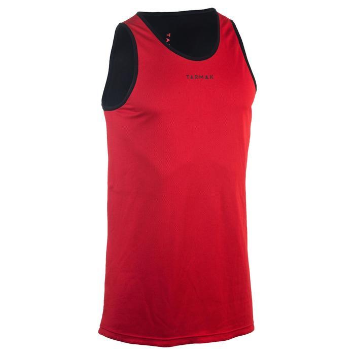雙面穿式初學者/進階籃球運動衫-紅色/黑色