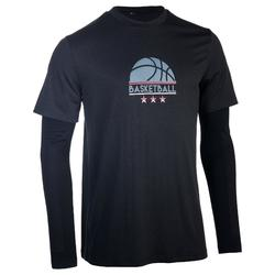 Basketbalshirt met sleeves voor heren Expert logo 1/2 bal