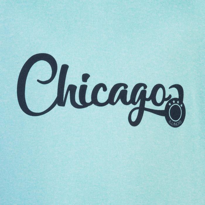 Basketbal T-shirt Fast jongens/meisjes halfgevorderden turquoise Chicago