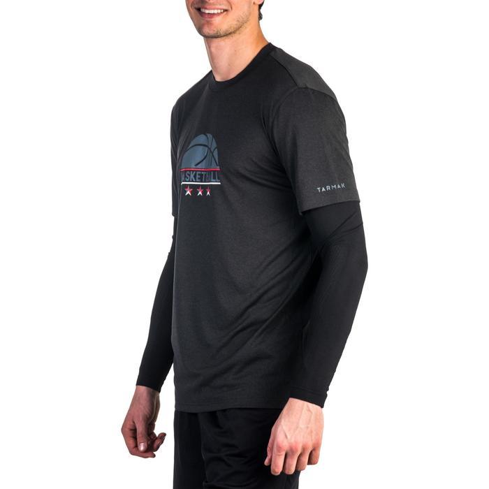 Basketbalshirt met sleeves voor heren Expert logo 1/2 bal