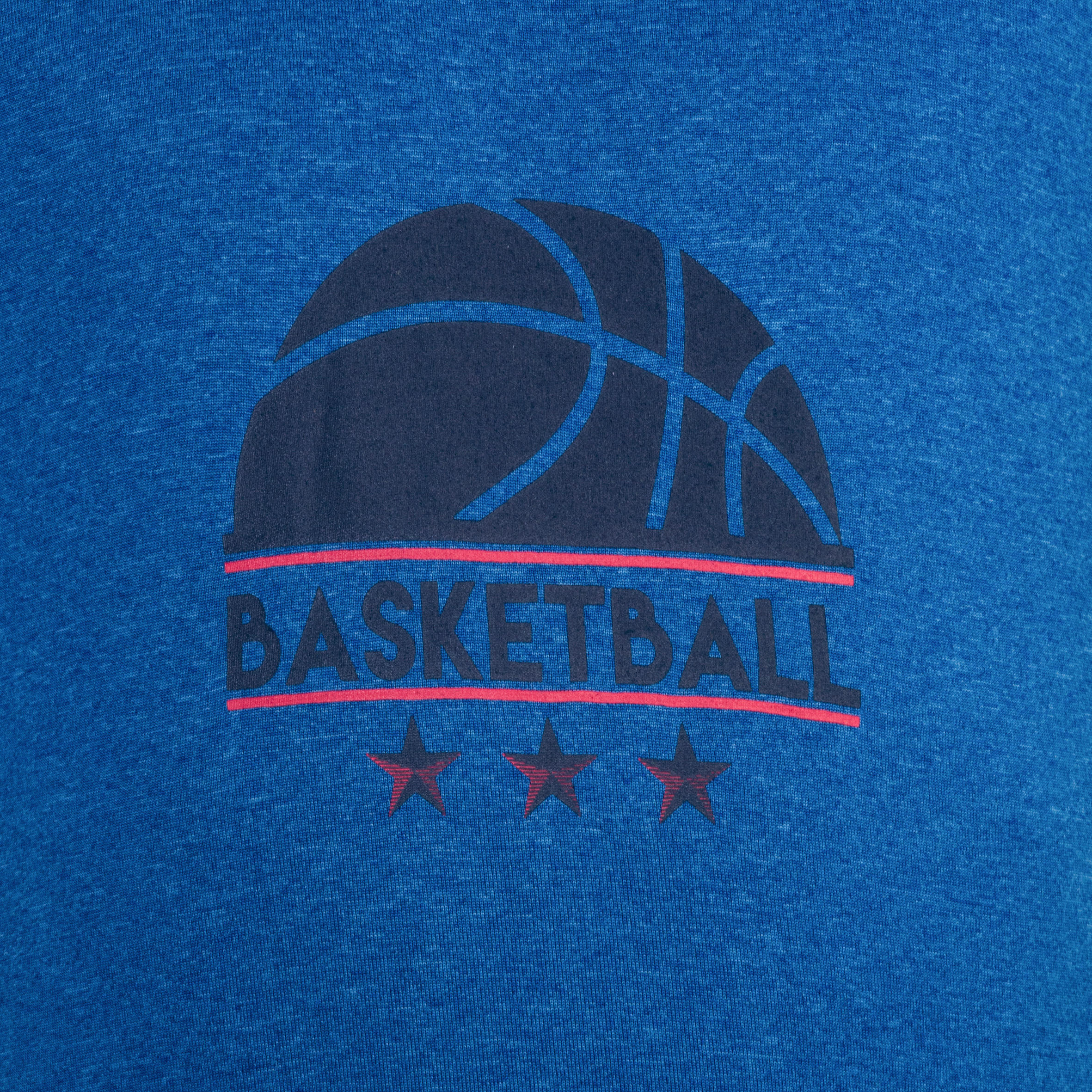 Fast Kids' Intermediate Basketball T-Shirt - Blue/Half-Ball
