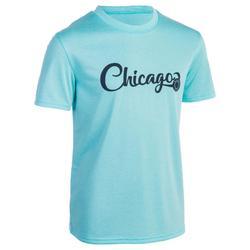 Basketballshirt Fast Chicago Kinder Jungen/Mädchen Fortgeschrittene türkis