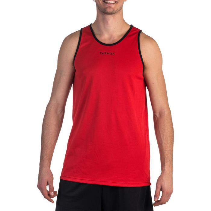 Reversible Basketball Tank Top For Intermediate Players - Red/Black