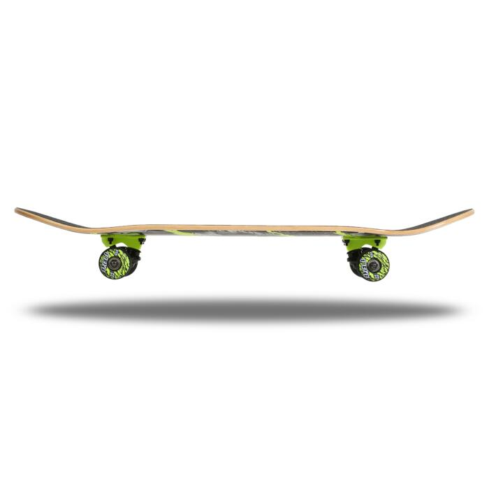 Skateboard voor kinderen van 8 tot 12 jaar MID500 Wolf groen