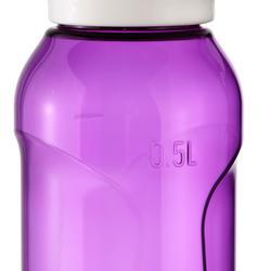 Cantimplora senderismo 500 tapón apertura rápida 0,5 L plástico (Tritan) violeta