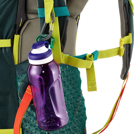 500 Tritan 0.5L Hiking Water Bottle with Quick-Opening Top - Purple