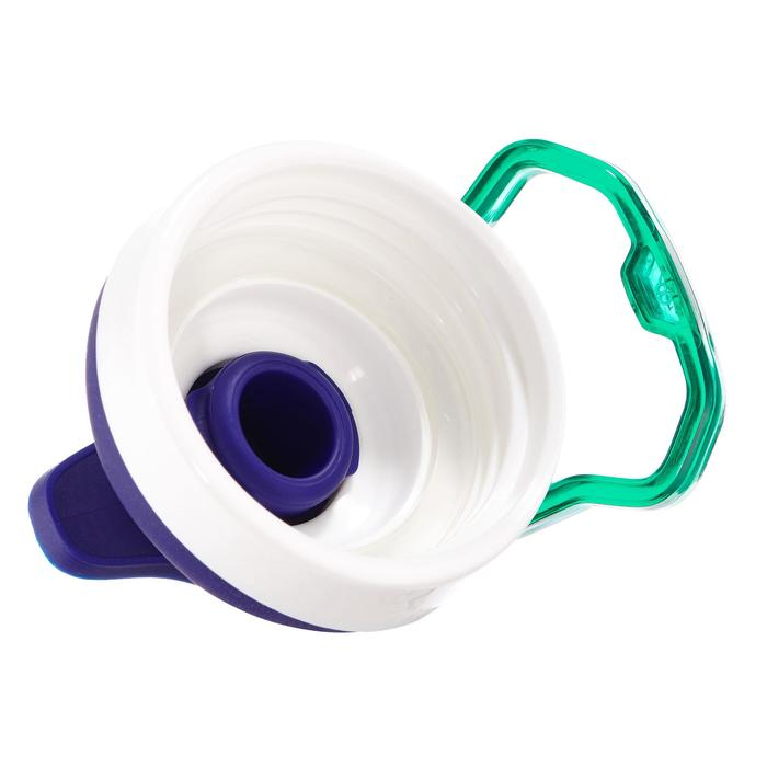 Drinkfles 500 voor wandelen sportdop 0,5 liter plastic (Tritan) paars