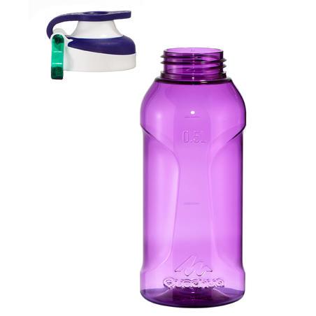 """Tritāna 0,5 l pārgājienu ūdens pudele ar ātri atveramu vāku """"500"""", violeta"""