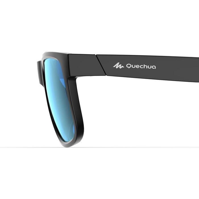 lunettes de soleil de randonnée adulte MH 540 noires et bleues catégorie 3