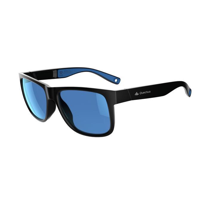 Sonnenbrille Wandern MH140Kategorie 3 Erwachseneschwarz/blau