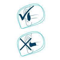 Tapones para oídos de silicón de color ROJO Y AZUL
