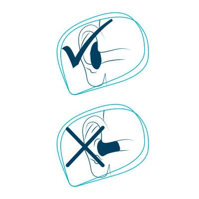 Tapones para oídos en silicona de color ROJO Y AZUL