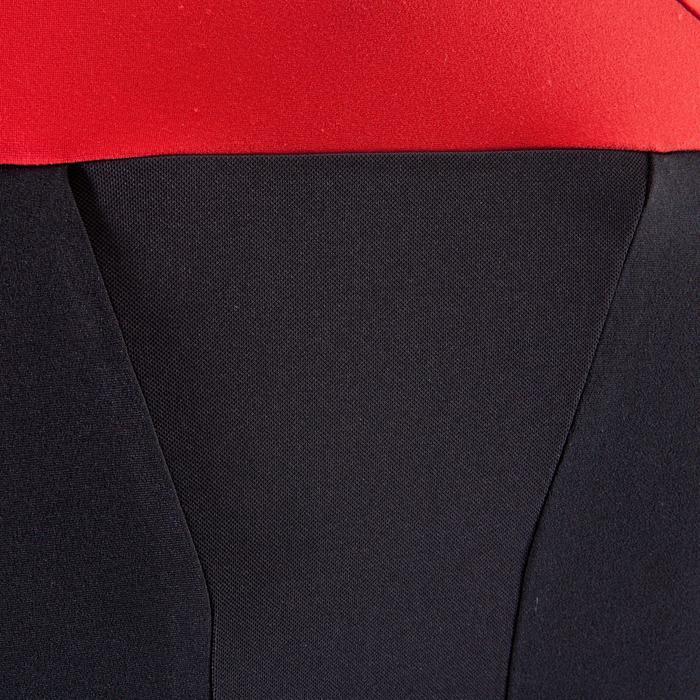 Shirt met lange mouwen voor XC mountainbiken heren zwart/rood